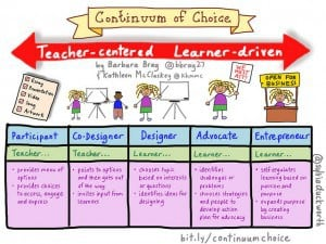 Improving Teaching Courses from Concrew Training - Image Continuum of Choice by Sylvia Duckworth