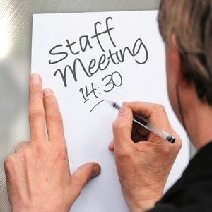 employee rep training - employee representative writing a meeting notice time